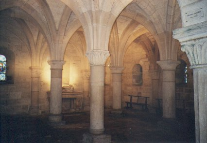 The central crypt, dedicated to Saint Ann